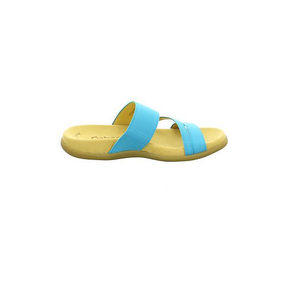 Gabor, Pantoletten, beliebte blau  Gute Qualität beliebte Pantoletten, Schuhe 3970c8