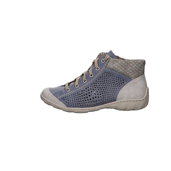 rieker, Schnürstiefeletten, blau  Gute Qualität beliebte Schuhe