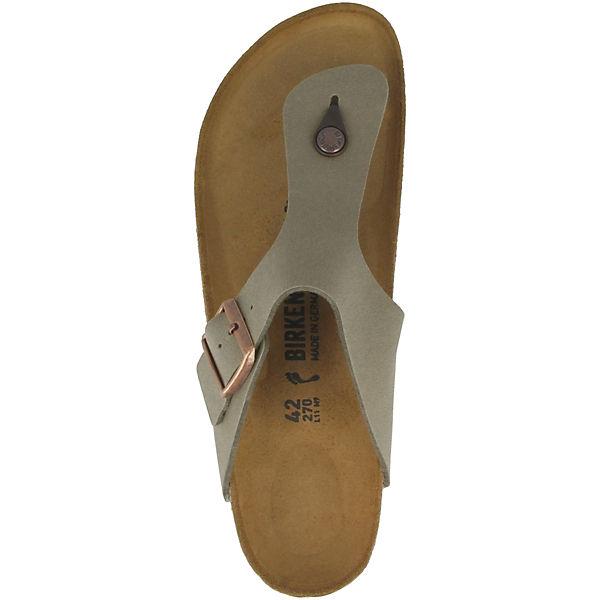 BIRKENSTOCK, Ramses Gute Birko-Flor Nubuk schmal Zehentrenner, grau  Gute Ramses Qualität beliebte Schuhe 6a1f50