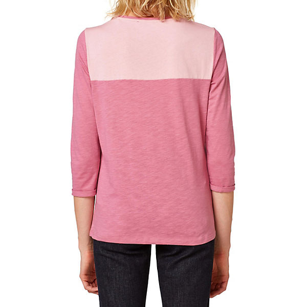 4 3 by edc Shirt Arm pink ESPRIT ZxnwRpw