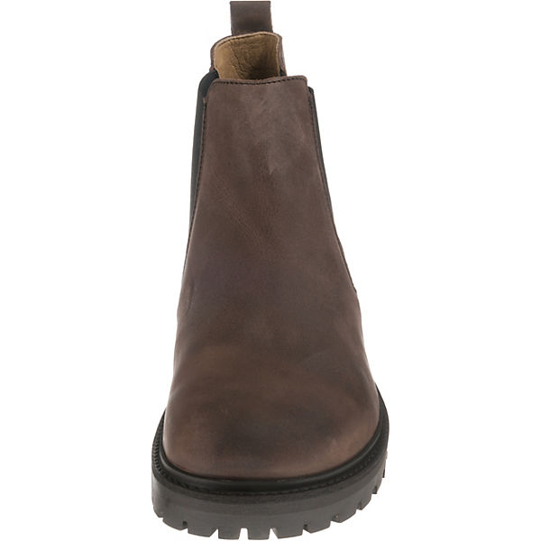 timeless design 7b5f1 f5634 BIRKENSTOCK, Stalon Nubukleder schmal Chelsea Boots, braun ...