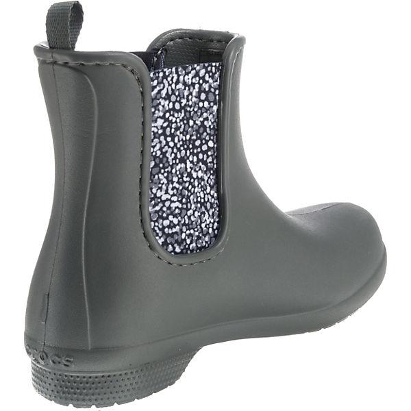 crocs, W Crocs Freesail Chelsea Boot W crocs, SGy/Dot Gummistiefel, grau   94cd2f