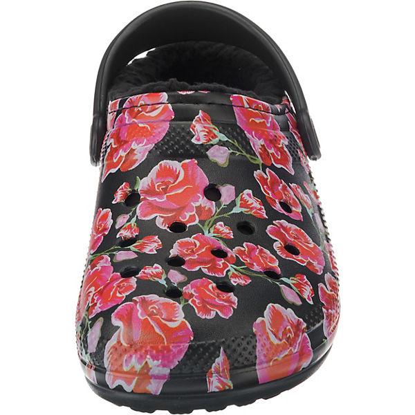 crocs, Classic Lined Graphic schwarz/rot II Clog Red/Blk Clogs, schwarz/rot Graphic  Gute Qualität beliebte Schuhe 5371b3