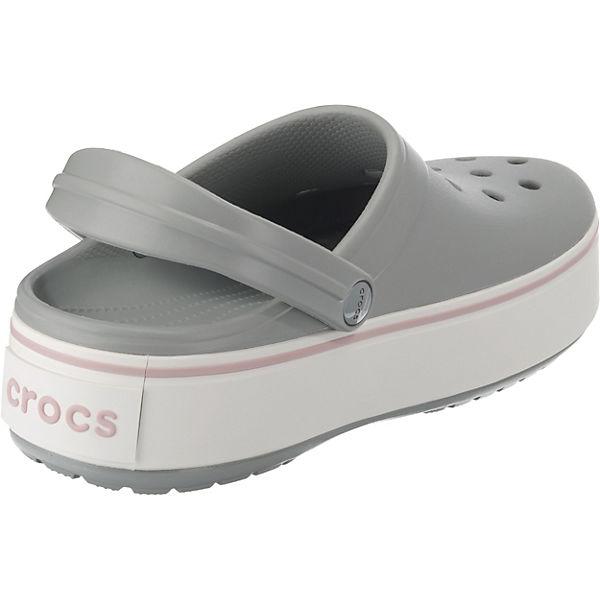 crocs, Crocband Platform Qualität Clog Lgr/Rose Clogs, rosa/grau  Gute Qualität Platform beliebte Schuhe bfe602
