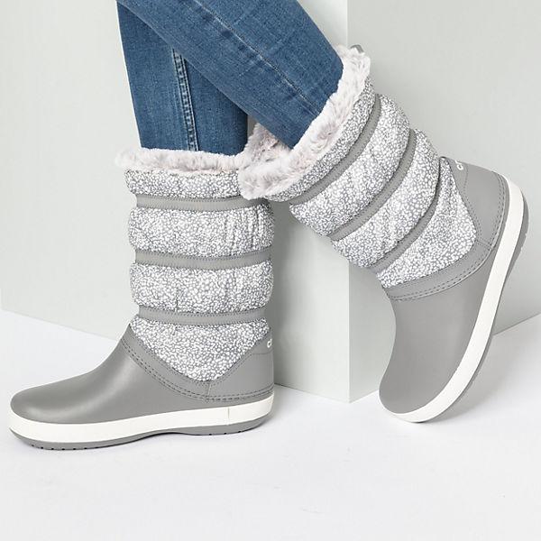 crocs, Crocband Gute Winter Boot W Dot/Smo Winterstiefel, grau  Gute Crocband Qualität beliebte Schuhe 916f2f