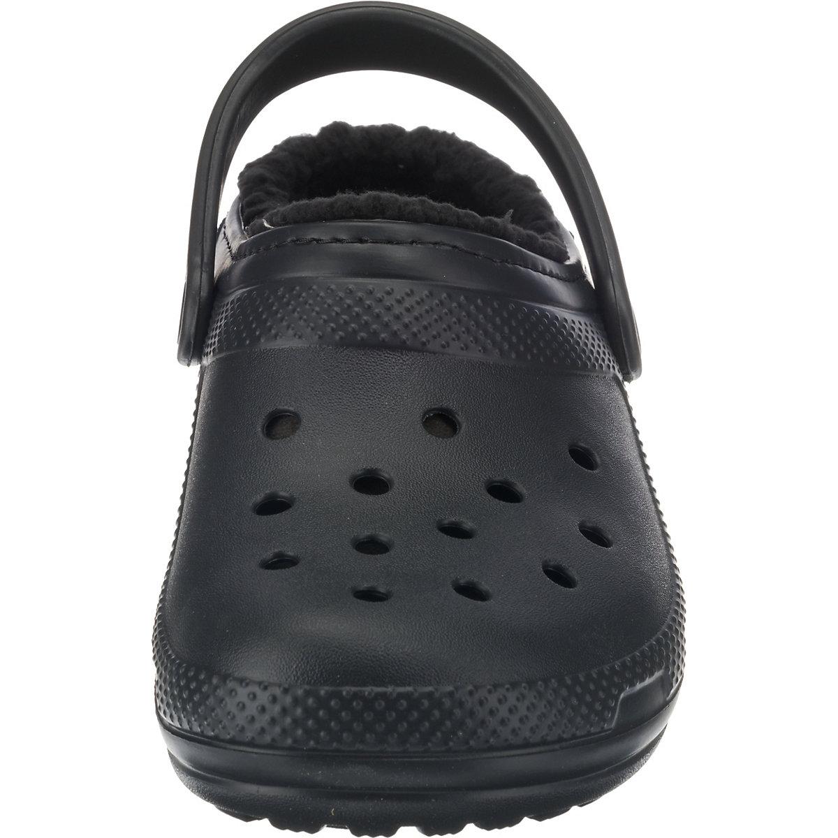 crocs Classic Lined Clog Clogs schwarz