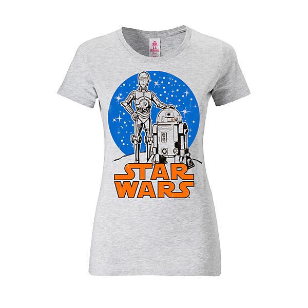 d2Und Logoshirt® Grau T C 3po frontprint shirts R2 Logoshirt T shirt Mit otBrdCshQx