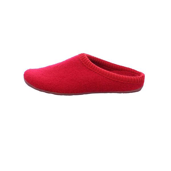 HAFLINGER, Pantoffeln, rot