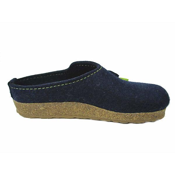 HAFLINGER, Pantoffeln, blau Qualität  Gute Qualität blau beliebte Schuhe 1239bf
