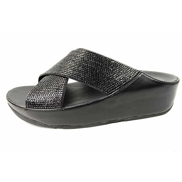 FitFlop Komfort-Pantoletten schwarz  Gute Qualität beliebte Schuhe