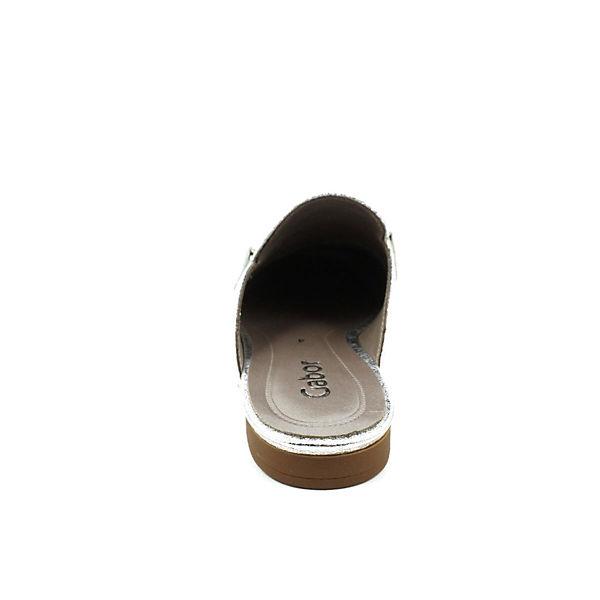 Gabor, Sabots, silber  beliebte Gute Qualität beliebte  Schuhe 30d1c1