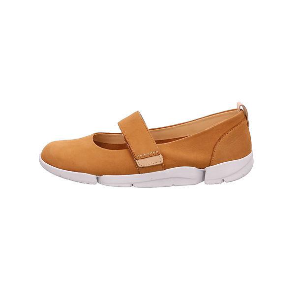 Clarks, Schnallenballerinas, braun  Gute Qualität beliebte Schuhe