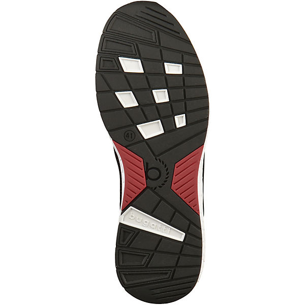 rot bugatti bugatti Sneakers Low Sneakers schwarz x0HgxwqX4F
