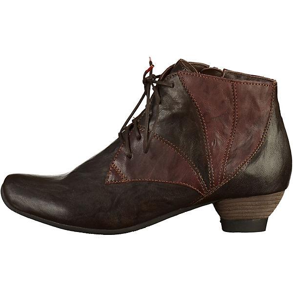 Think!, Schnürstiefeletten, dunkelbraun  Gute Qualität beliebte Schuhe