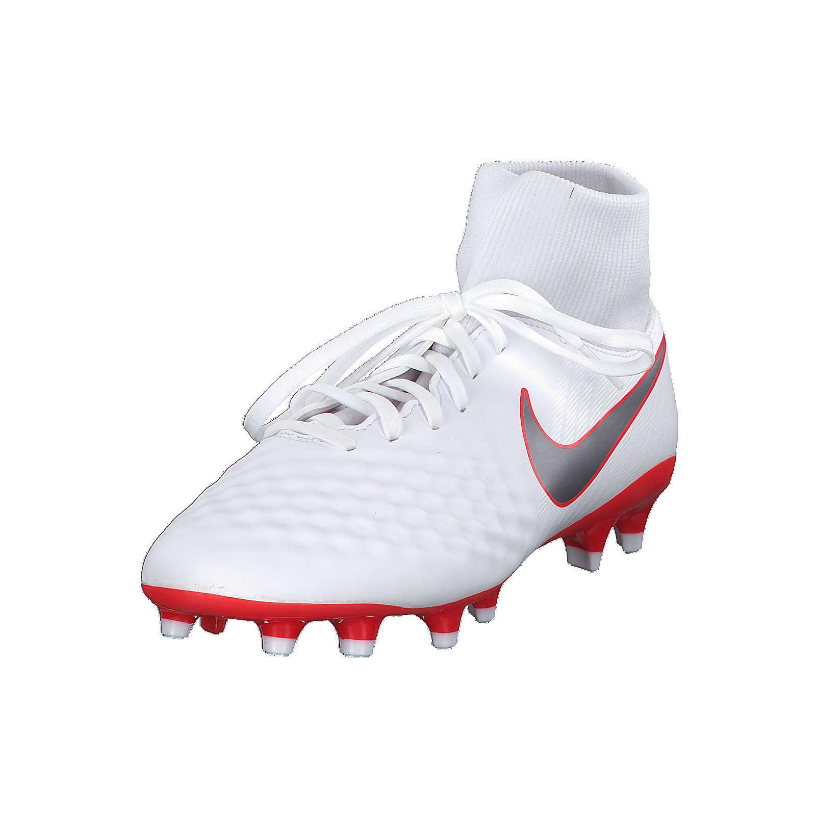 Nike Fußballschuh Magista Obra II Academy DF FG mit Rundumtraktion AH7303-107 Sportschuhe weiß/grau Herren Gr. 41