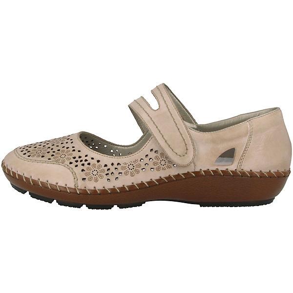 rieker, rieker, rieker, Riva Schnallenballerinas, creme  Gute Qualität beliebte Schuhe d5e8ac