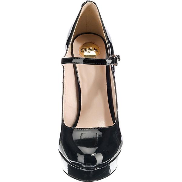 BUFFALO, Plateau-Pumps, Gute schwarz  Gute Plateau-Pumps, Qualität beliebte Schuhe 4b4589