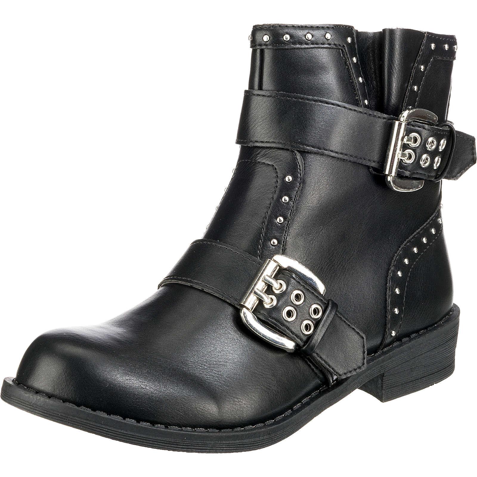 BUFFALO Biker Boots schwarz Damen Gr. 38