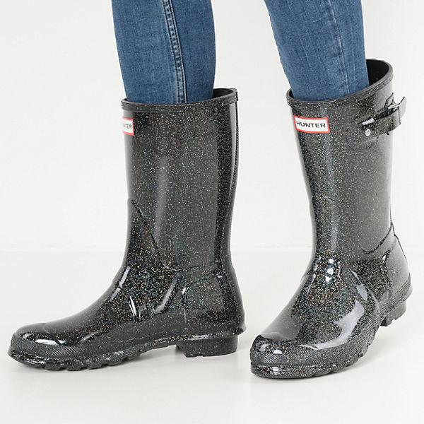 HUNTER, Gummistiefel, schwarz-kombi  Gute Qualität beliebte Schuhe
