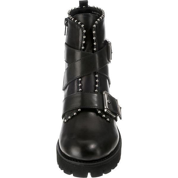STEVE STEVE STEVE MADDEN, Hoofy Biker Stiefel, schwarz  Gute Qualität beliebte Schuhe 5e628d