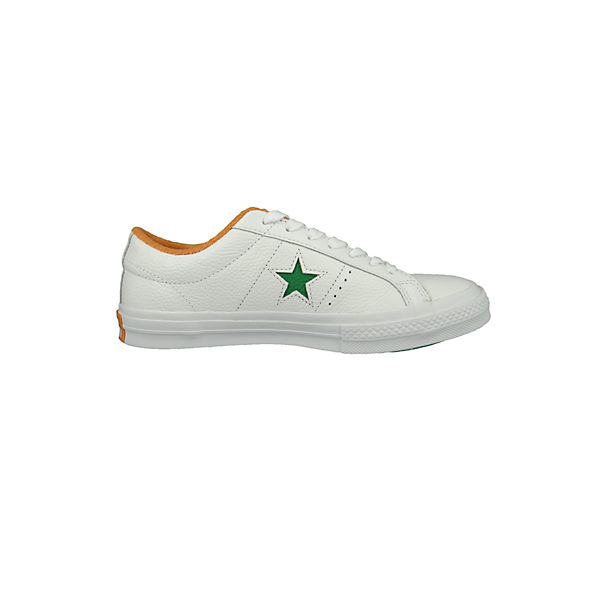 CONVERSE, OX Chucks 160594C One Star OX CONVERSE, Green Tangelo Australian Open Sneakers Low, weiß   b5cdc3