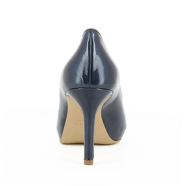 Evita Shoes, ELISA Peeptoe-Pumps, dunkelblau