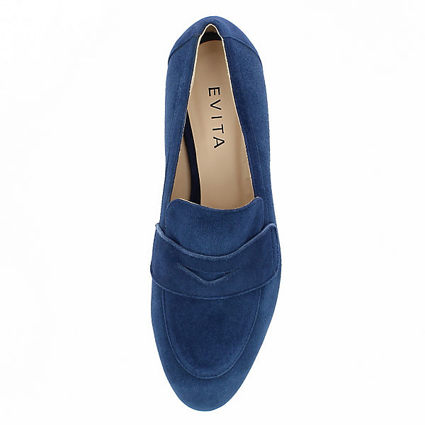 Evita Shoes, PATTY Klassische  Slipper, dunkelblau  Klassische  ff8b5f