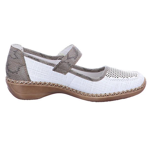 rieker, 41306-80 Komfort-Ballerinas, weiß weiß Komfort-Ballerinas,   4329ad