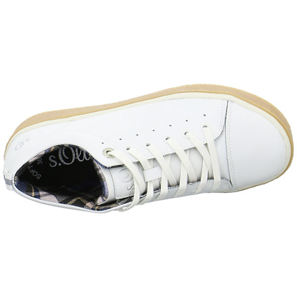 Sneakers s s Oliver Low weiß Oliver Sneakers wZTSIq