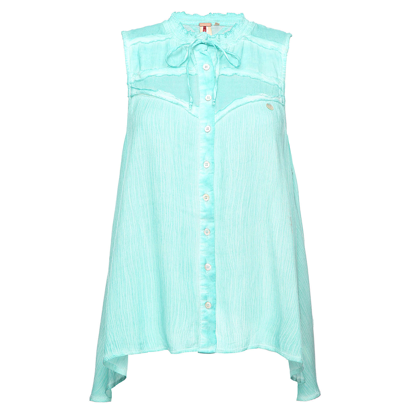 Khujo Top blau Damen Gr. 34