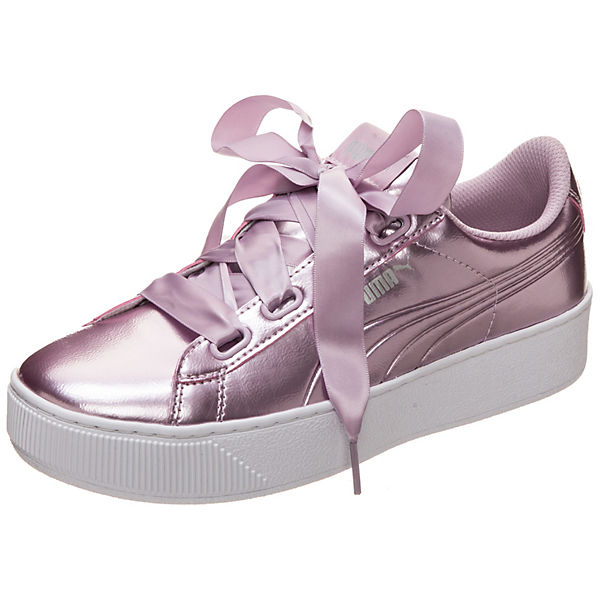 Vikky Platform Ribbon Patent Sneakers Low