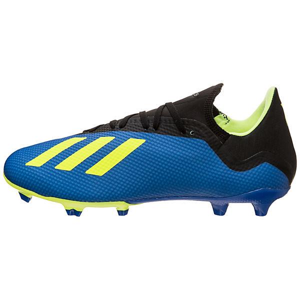 online store be8fe 486e8 adidas Performance, adidas X 18.3 FG Fußballschuhe, blau  mi