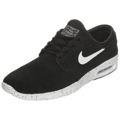 NIKE SB, Stefan Janoski Max Leather Sneakers Low, schwarz