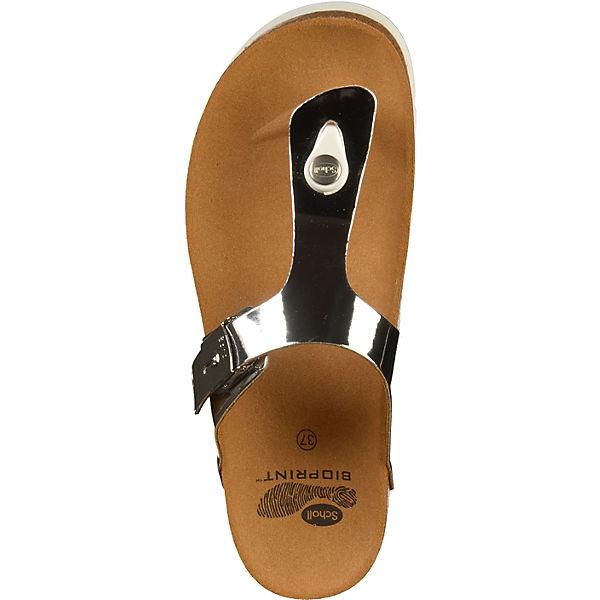 Scholl, Zehentrenner, Zehentrenner, Zehentrenner, silber  Gute Qualität beliebte Schuhe a13982