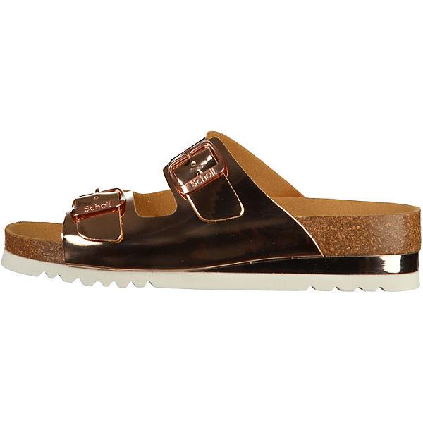 Scholl, Plateau-Pantoletten, rosegold  Gute Qualität beliebte Schuhe