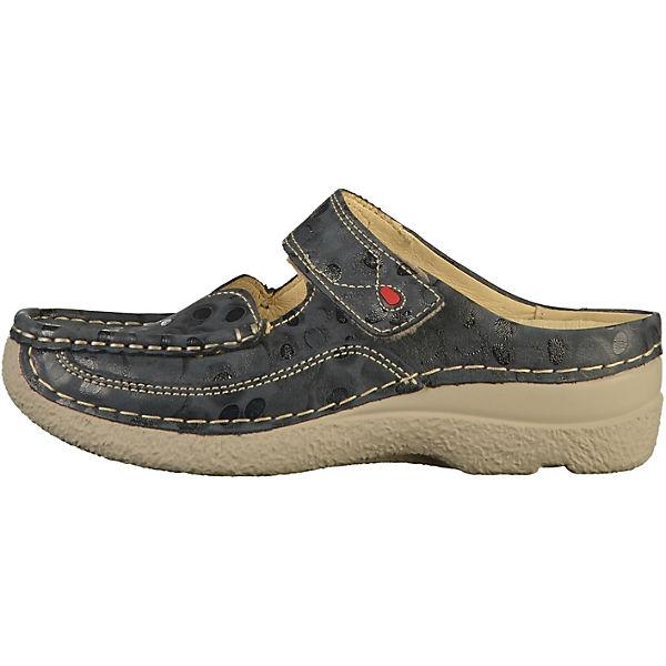 Wolky, Plateau-Pantoletten, grau  Gute Qualität beliebte Schuhe