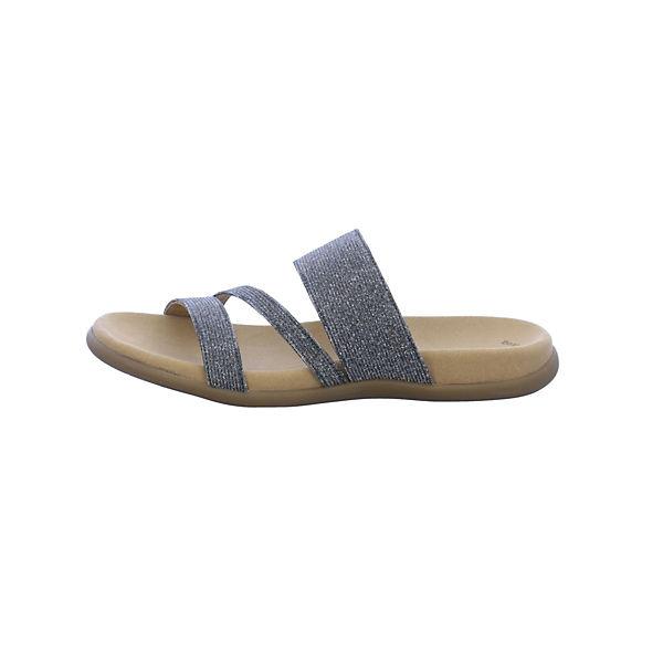 Gabor, Pantoletten, beliebte silber  Gute Qualität beliebte Pantoletten, Schuhe 285883
