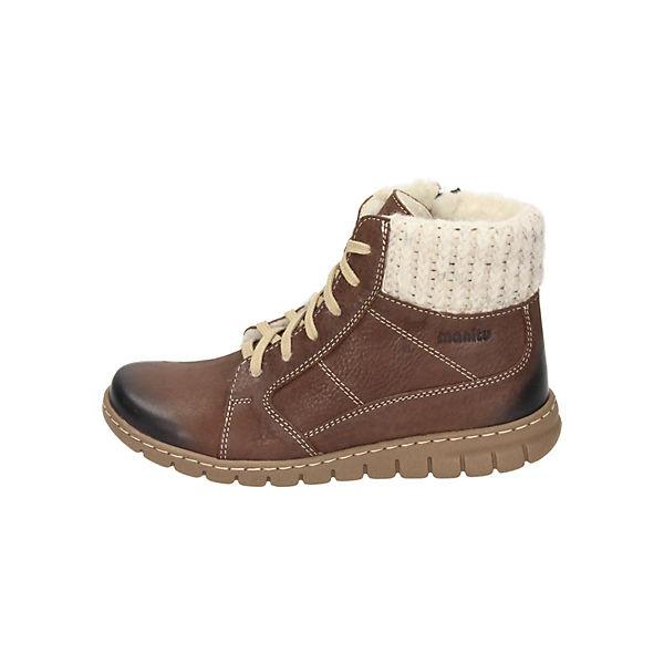 Manitu, Schnürstiefeletten, braun  Gute Qualität beliebte Schuhe