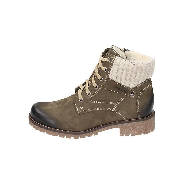 Manitu, Schnürstiefeletten, grün  Gute Qualität beliebte Schuhe