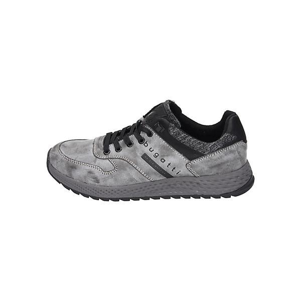 bugatti, Schnürschuhe, grau  Gute Qualität beliebte Schuhe