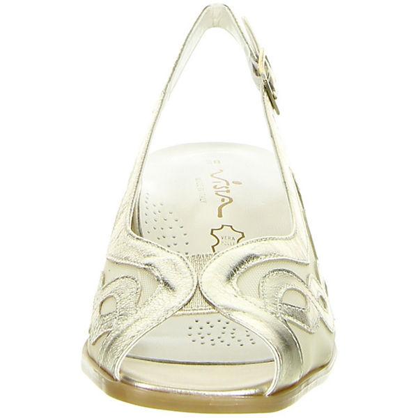 Vista, Sling-Pumps, beliebte gold  Gute Qualität beliebte Sling-Pumps, Schuhe 9a21f3