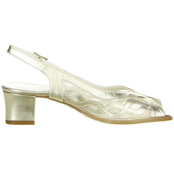 Vista, Sling-Pumps, beliebte gold  Gute Qualität beliebte Sling-Pumps, Schuhe 14f36e