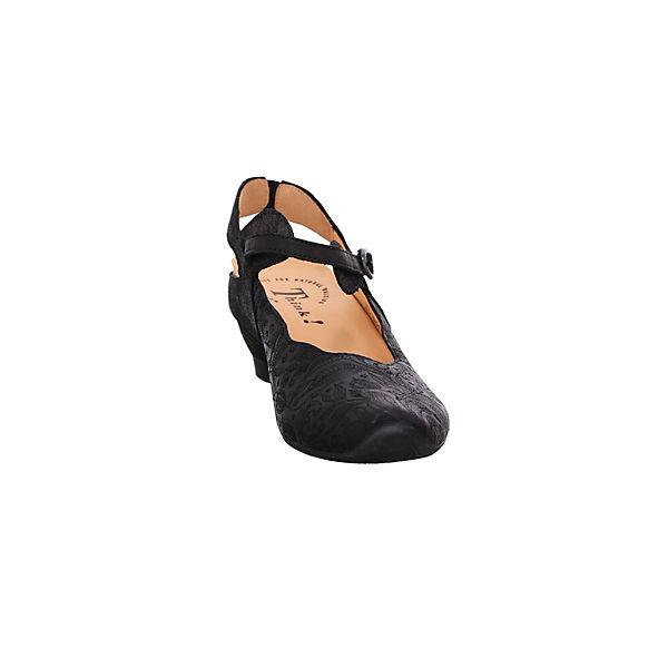 Think! Spangenpumps schwarz   schwarz Gute Qualität beliebte Schuhe 3ba2f6