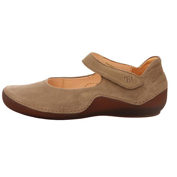 Think!, Schnallenballerinas, hellbraun  Gute Qualität beliebte Schuhe