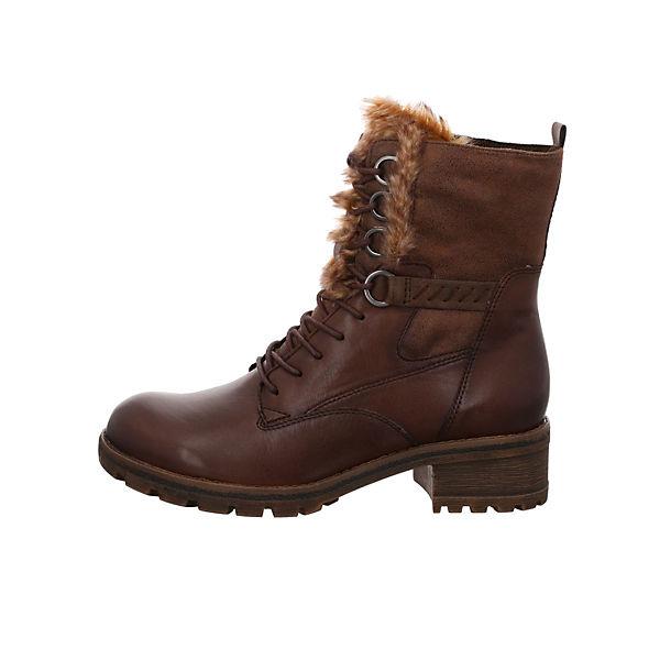 Tamaris, Schnürstiefeletten, braun  Gute Qualität beliebte Schuhe