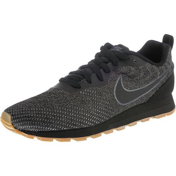 2 Sportswear Low Runner Md Sneakers schwarz Nike O8tPfxwO