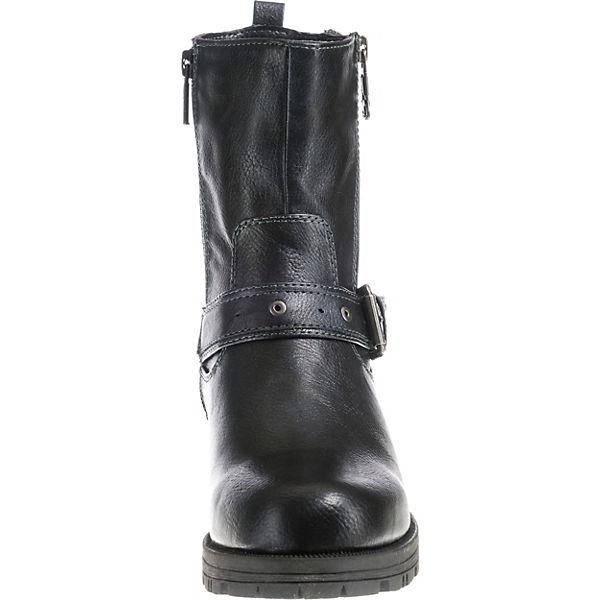 MUSTANG, Klassische Gute Stiefeletten, dunkelblau  Gute Klassische Qualität beliebte Schuhe f8fc94