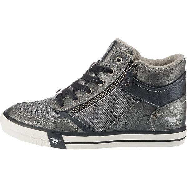 MUSTANG, Sneakers Sneakers MUSTANG, High, dunkelgrau   1c16dd