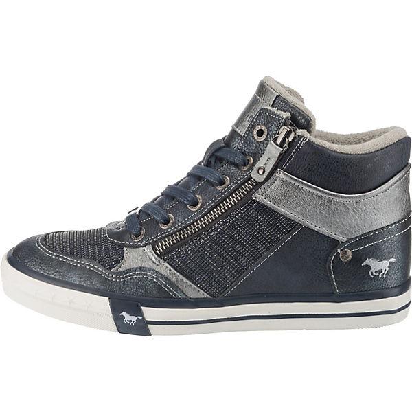 MUSTANG, Sneakers High, dunkelblau dunkelblau dunkelblau  Gute Qualität beliebte Schuhe 838c87