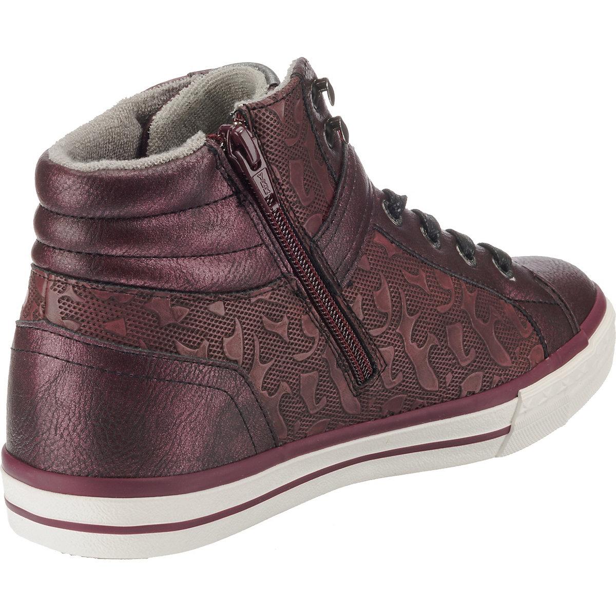 MUSTANG Sneakers High bordeaux